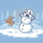 снеговик и заяц